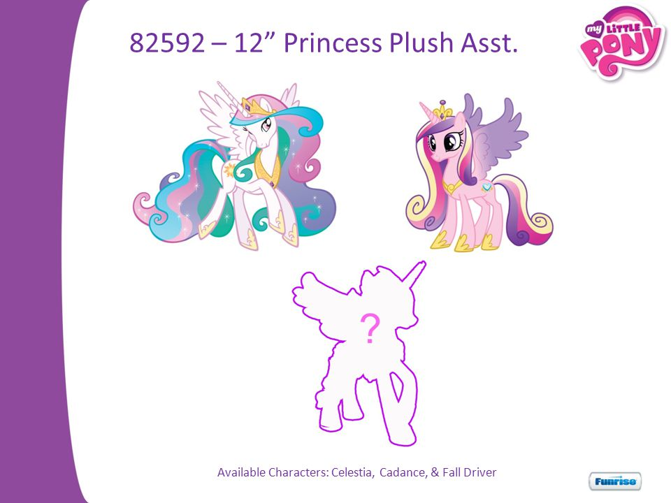 Available Characters: Celestia, Cadance, & Fall Driver