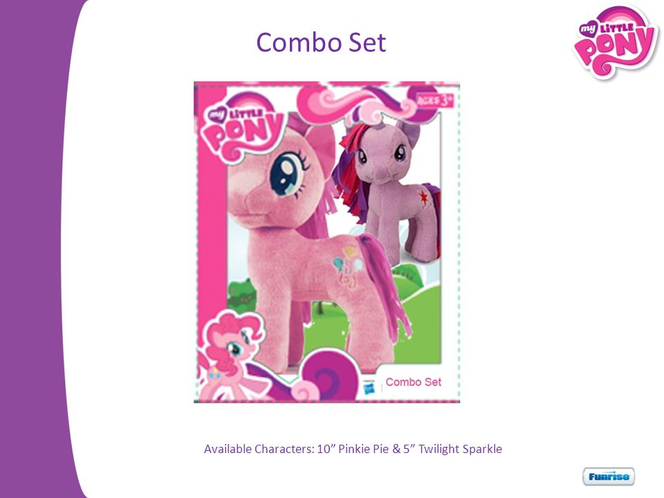Available Characters: 10 Pinkie Pie & 5 Twilight Sparkle