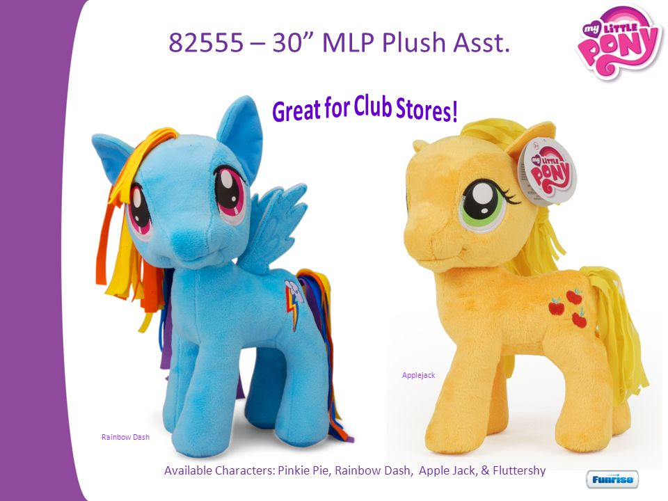 82555 – 30 MLP Plush Asst. Great for Club Stores!