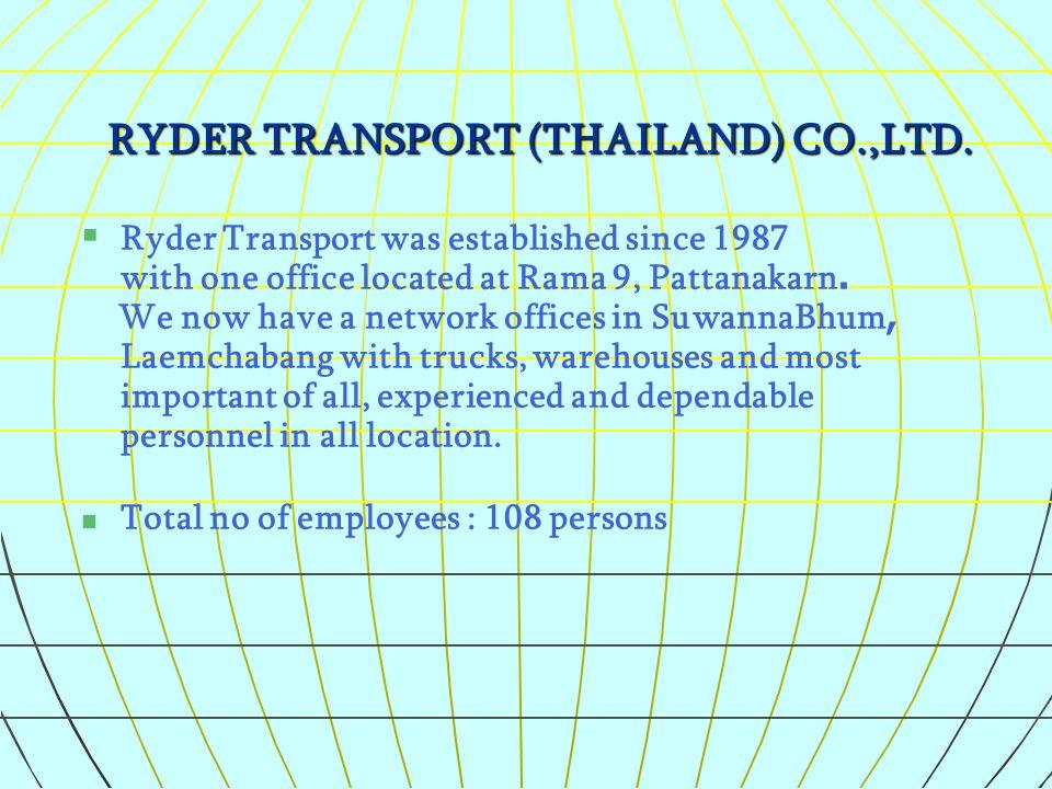 RYDER TRANSPORT (THAILAND) CO.,LTD.