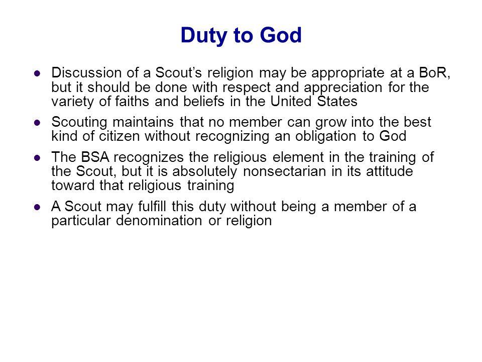 05/31/10 Duty to God.