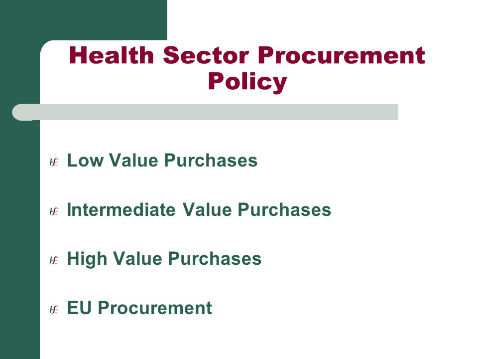 Health Sector Procurement Policy