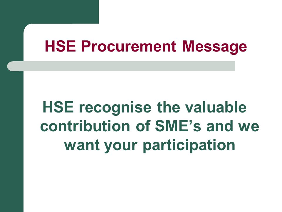 HSE Procurement Message