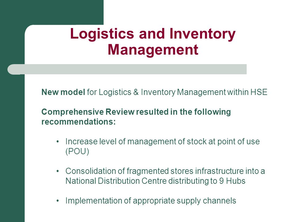 Logistics and Inventory Management