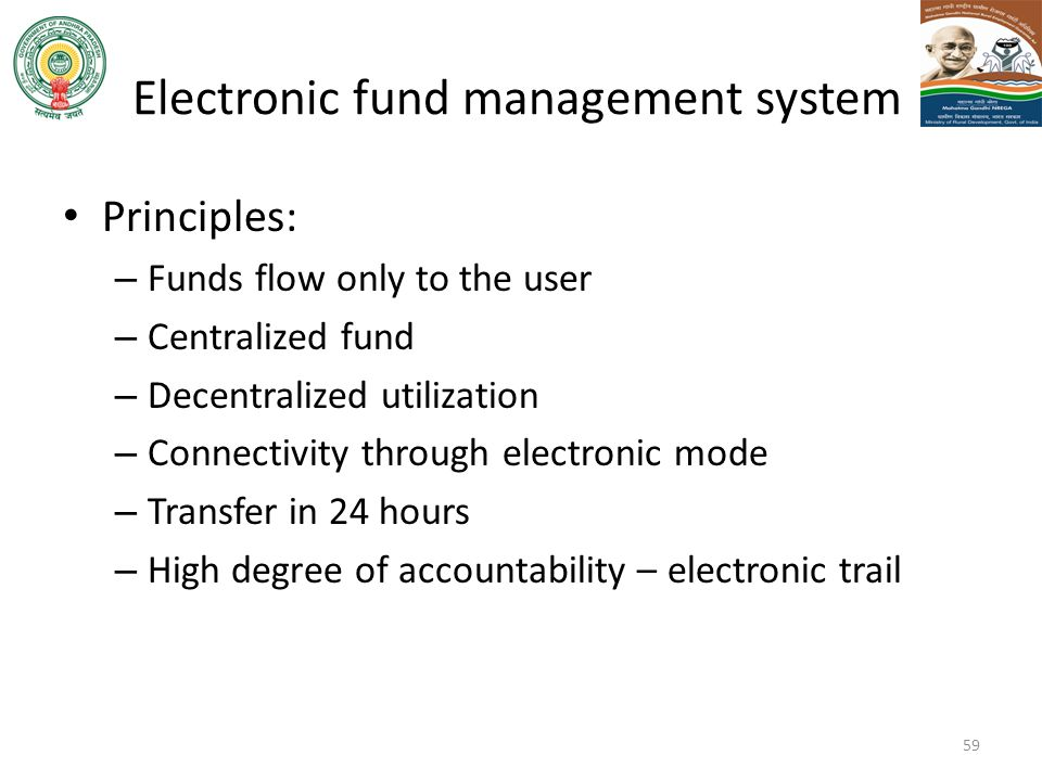 Electronic fund management system