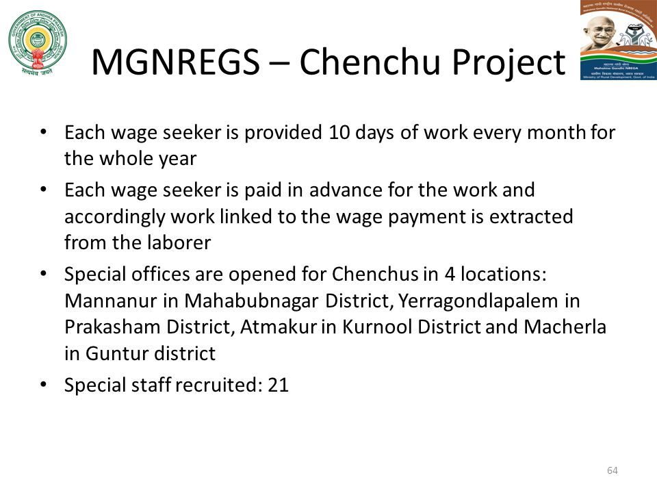 MGNREGS – Chenchu Project
