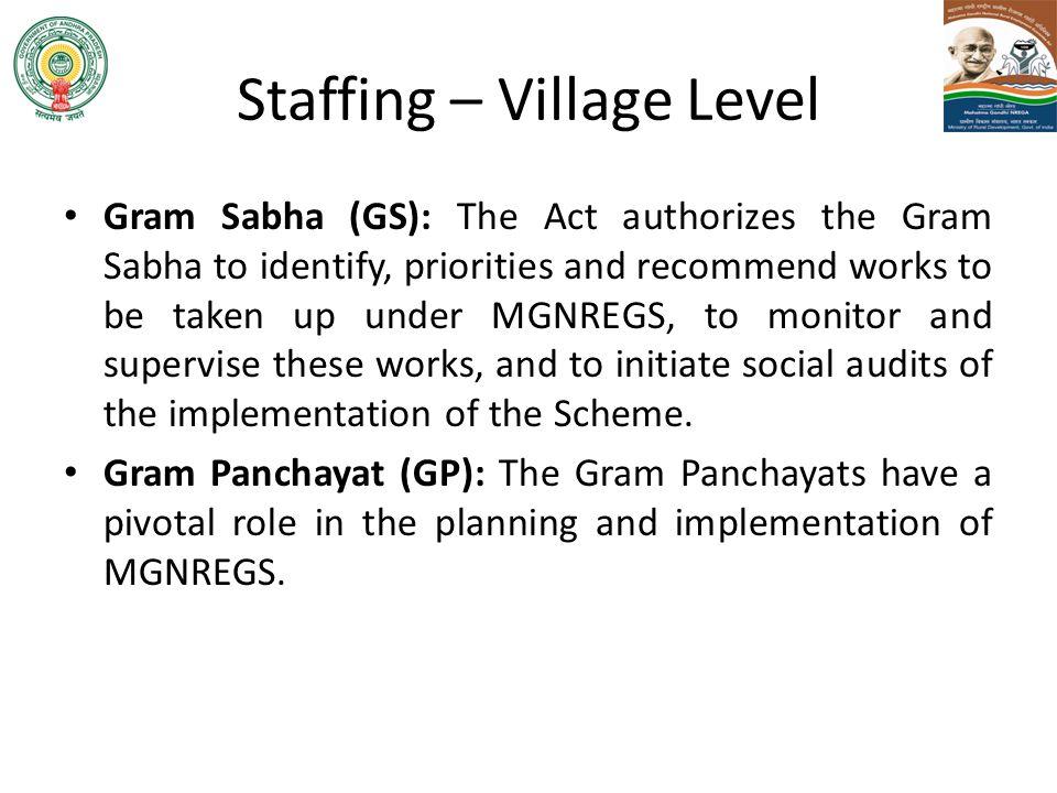 Staffing – Village Level