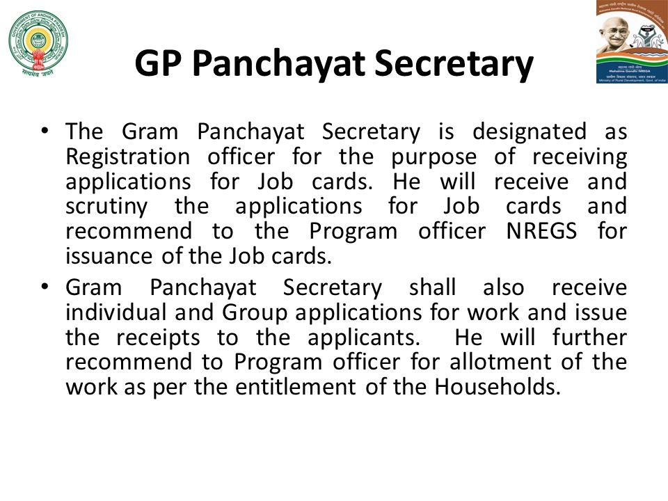 GP Panchayat Secretary