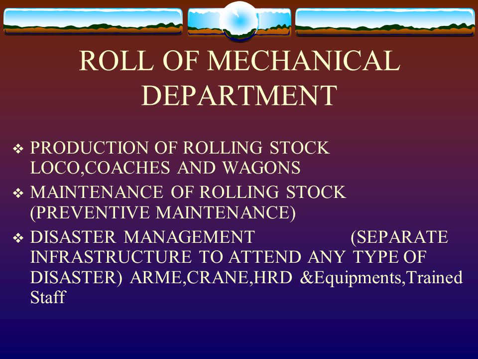 ROLL OF MECHANICAL DEPARTMENT