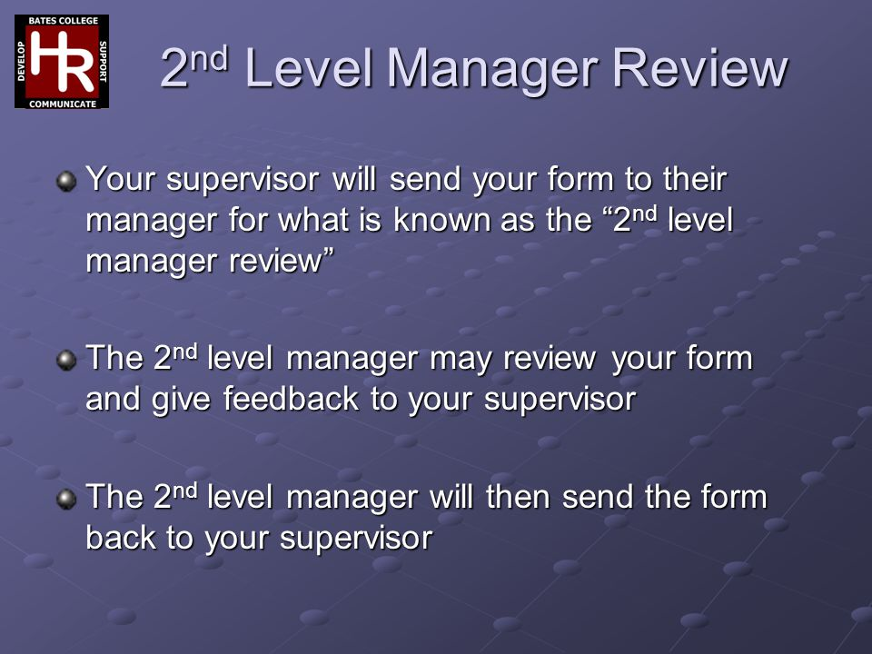 2nd Level Manager Review