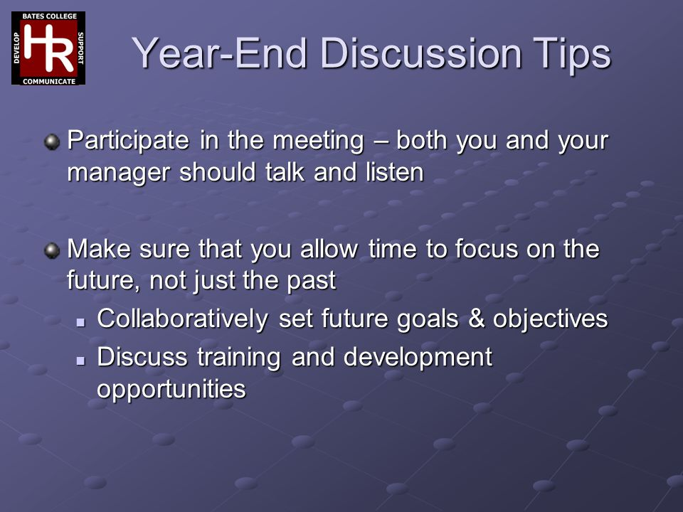 Year-End Discussion Tips