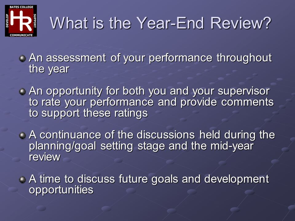 What is the Year-End Review