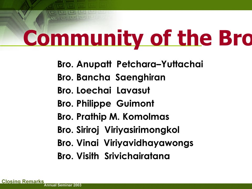Community of the Brothers