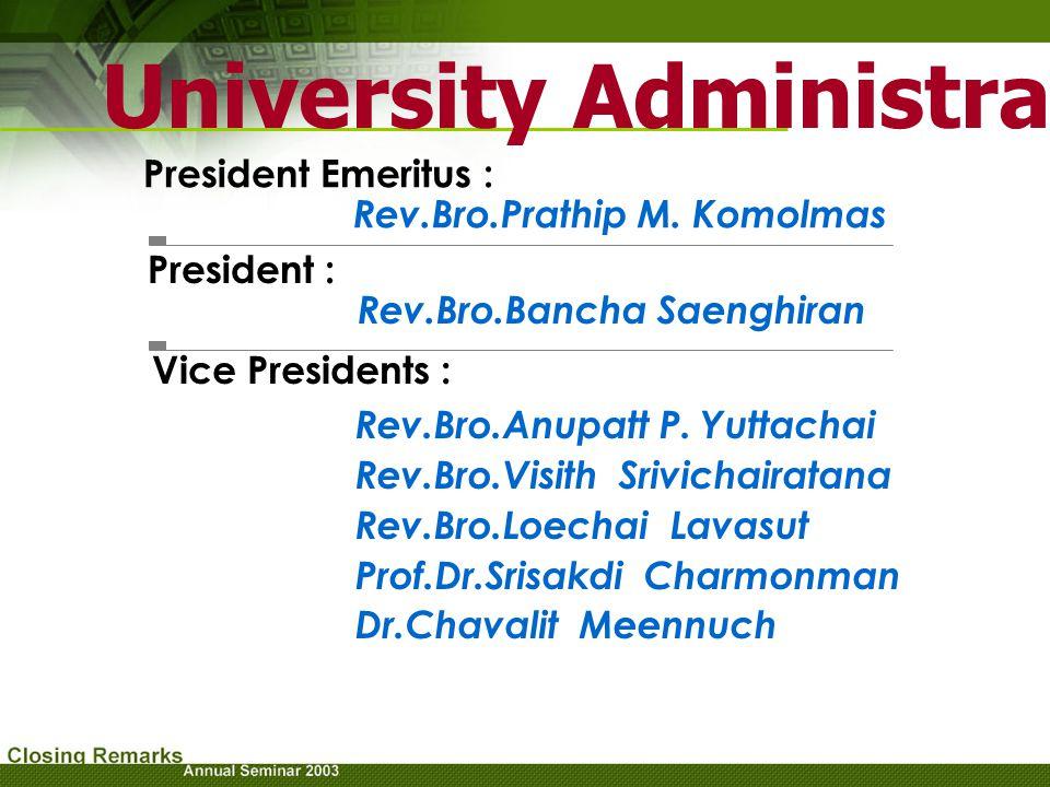 University Administrators