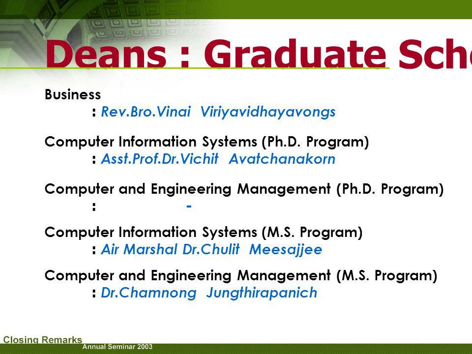 Deans : Graduate School