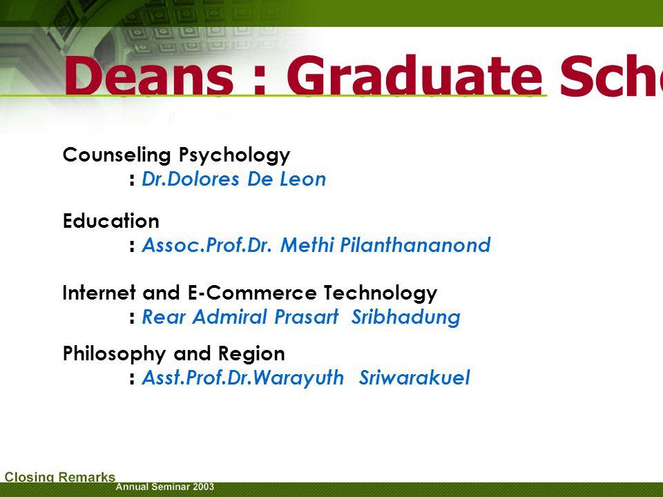 Deans : Graduate School (cont.)
