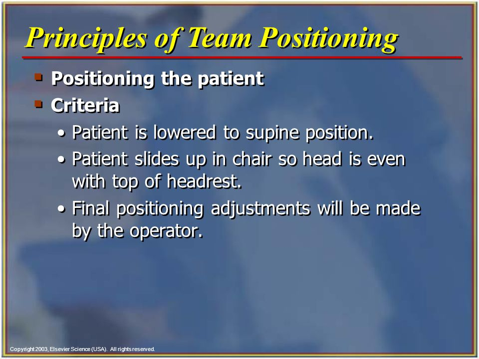 Principles of Team Positioning