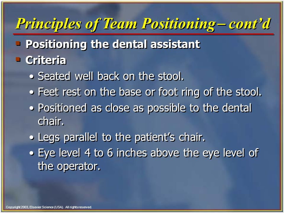 Principles of Team Positioning- cont'd