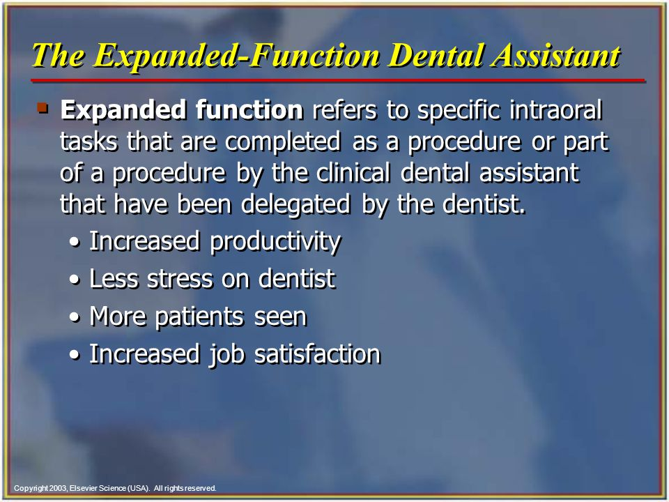 The Expanded-Function Dental Assistant