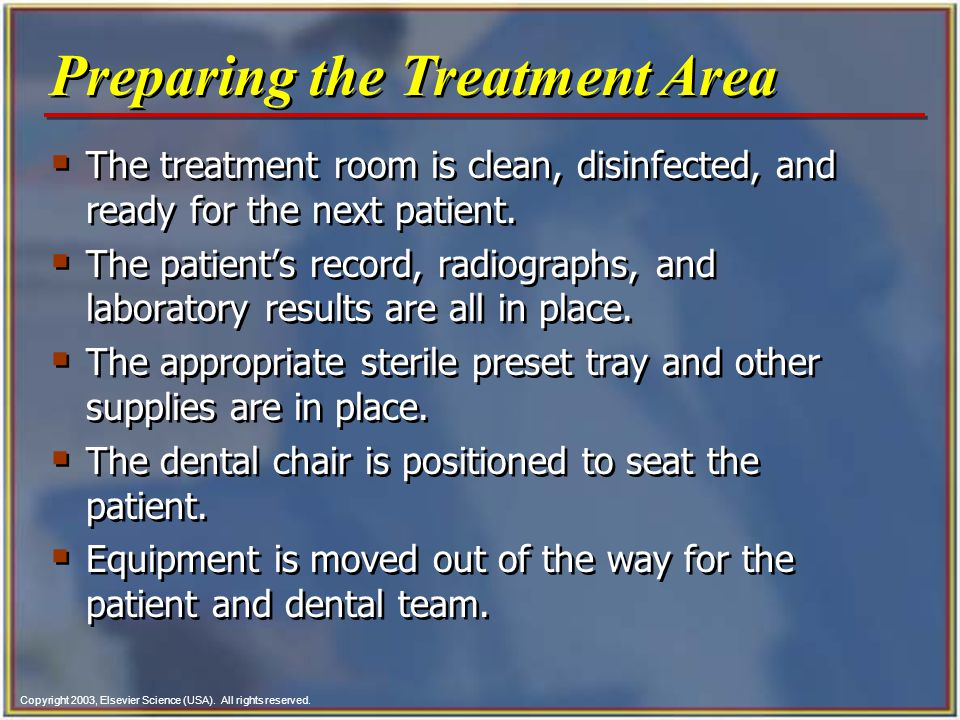 Preparing the Treatment Area