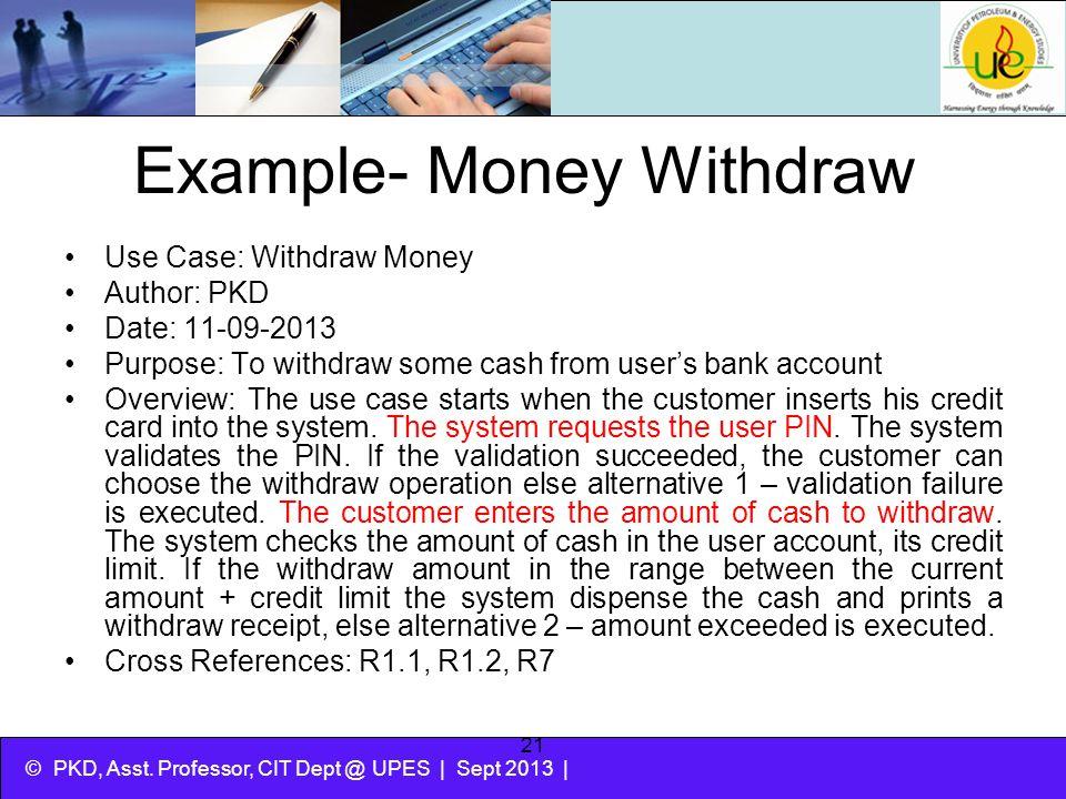 Example- Money Withdraw