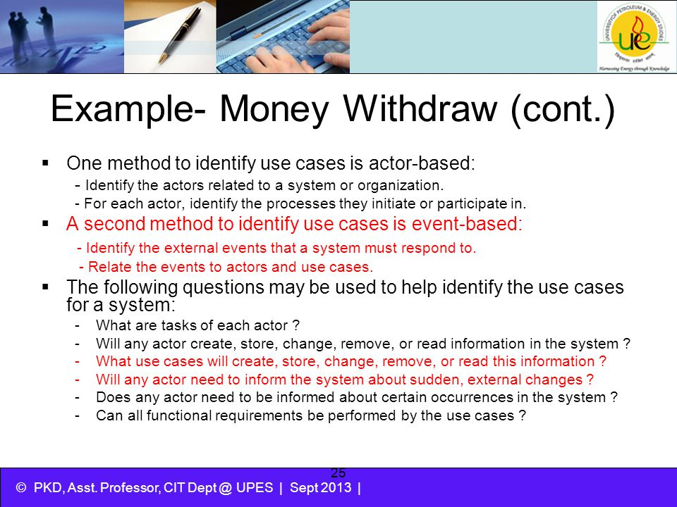 Example- Money Withdraw (cont.)