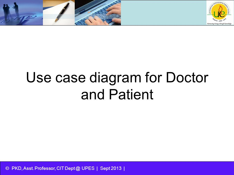 Use case diagram for Doctor and Patient