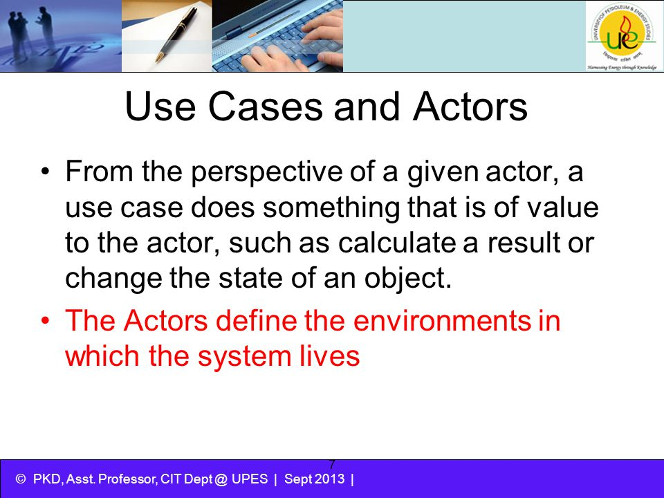 Use Cases and Actors