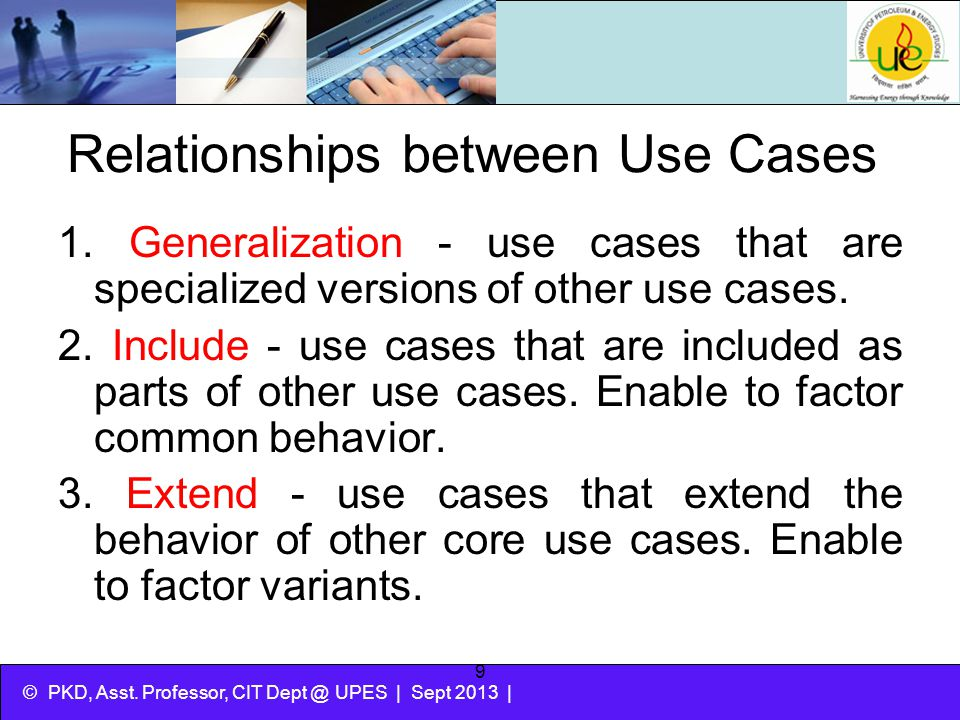 Relationships between Use Cases