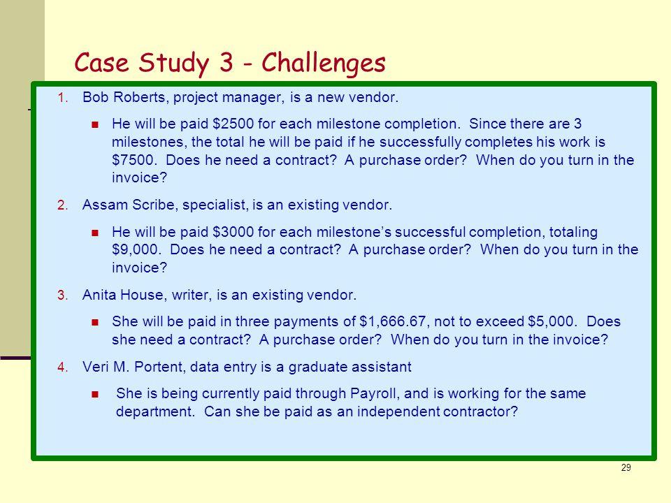 Case Study 3 - Challenges
