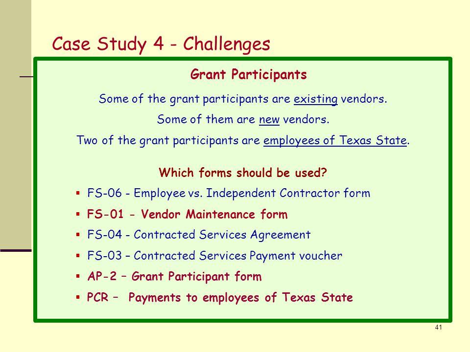 Case Study 4 - Challenges