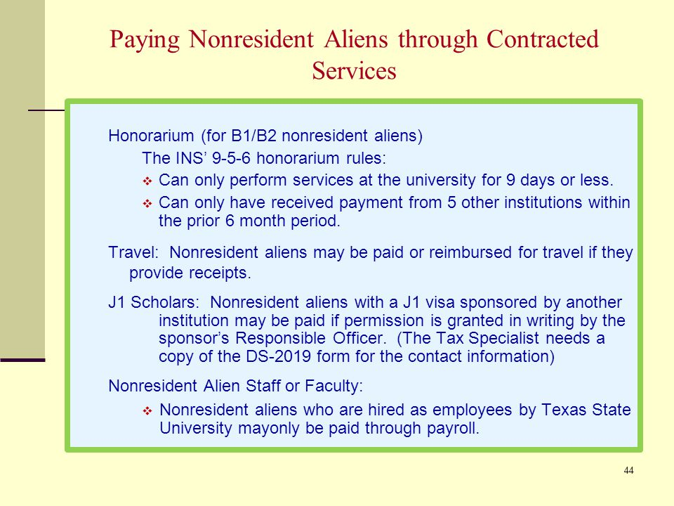 Paying Nonresident Aliens through Contracted Services