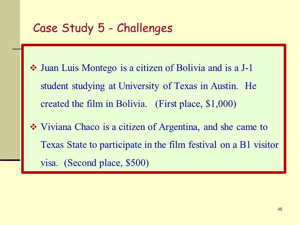 Case Study 5 - Challenges