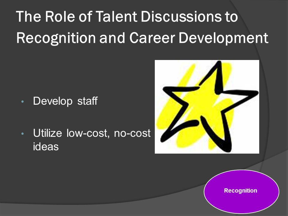 The Role of Talent Discussions to Recognition and Career Development