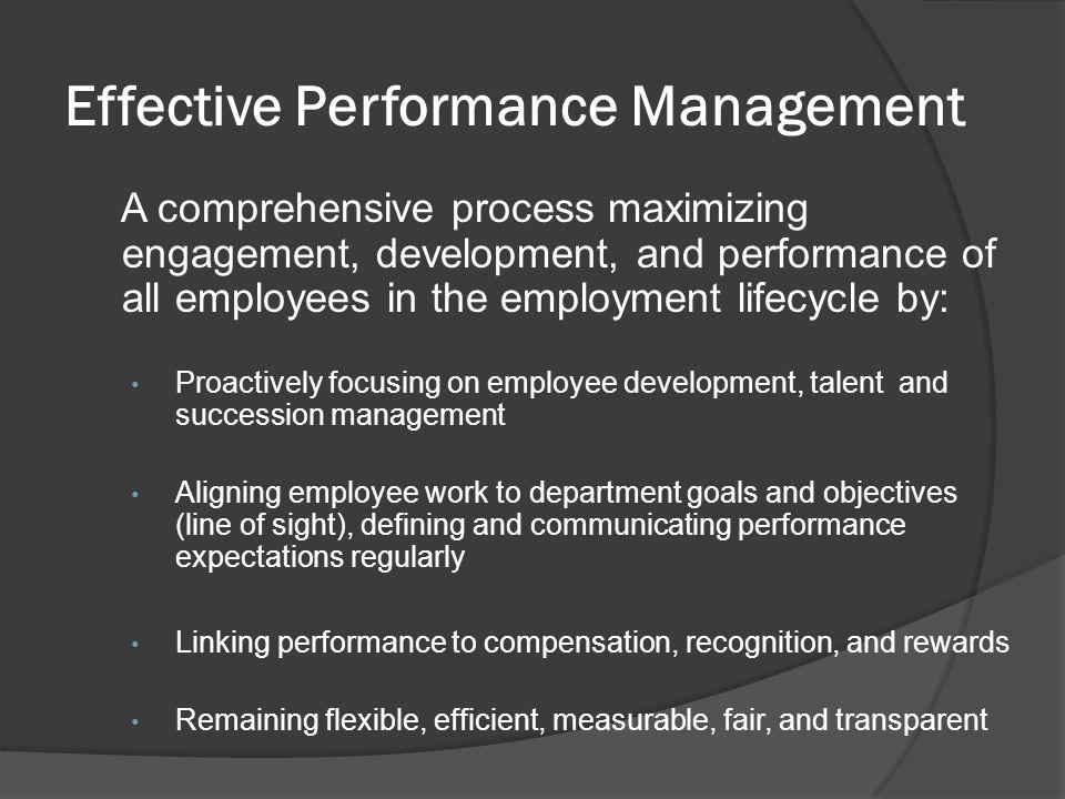 Effective Performance Management