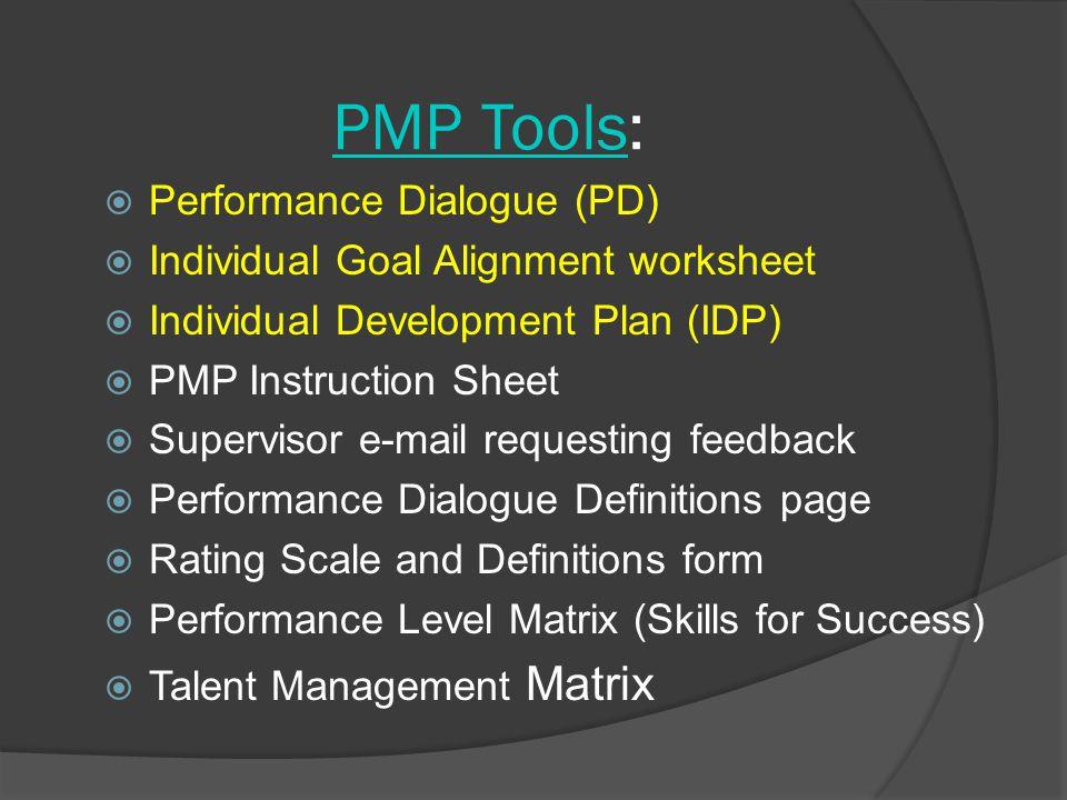 PMP Tools: Performance Dialogue (PD)