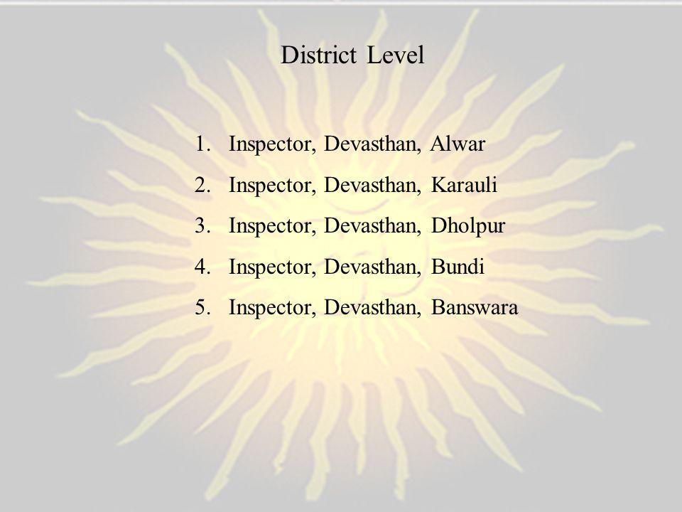 District Level Inspector, Devasthan, Alwar