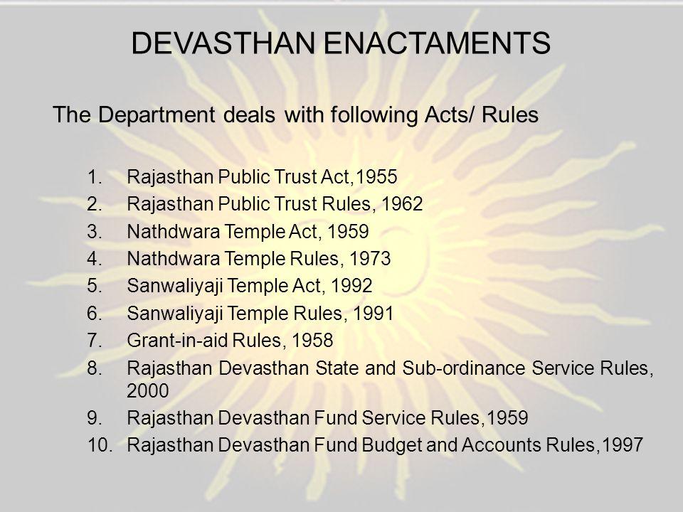 DEVASTHAN ENACTAMENTS