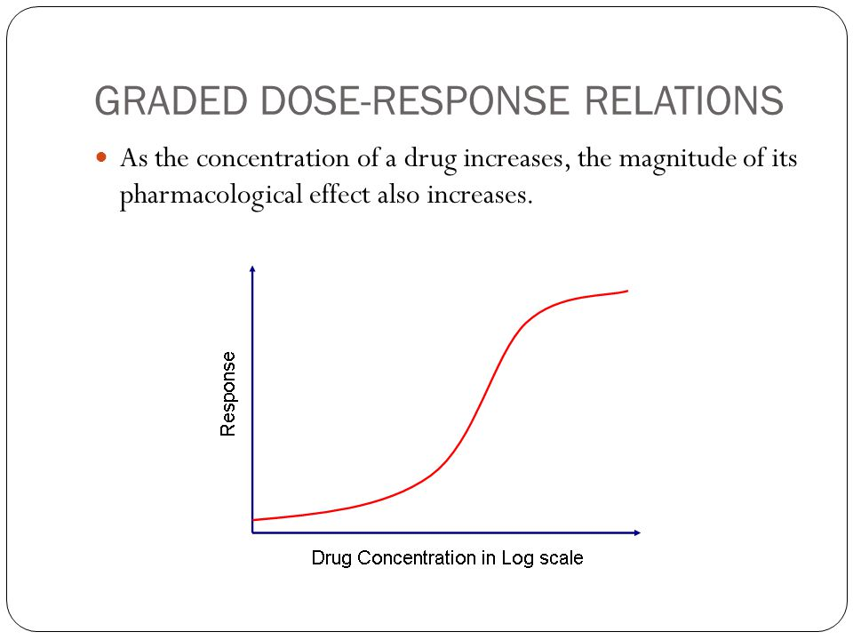 GRADED DOSE-RESPONSE RELATIONS