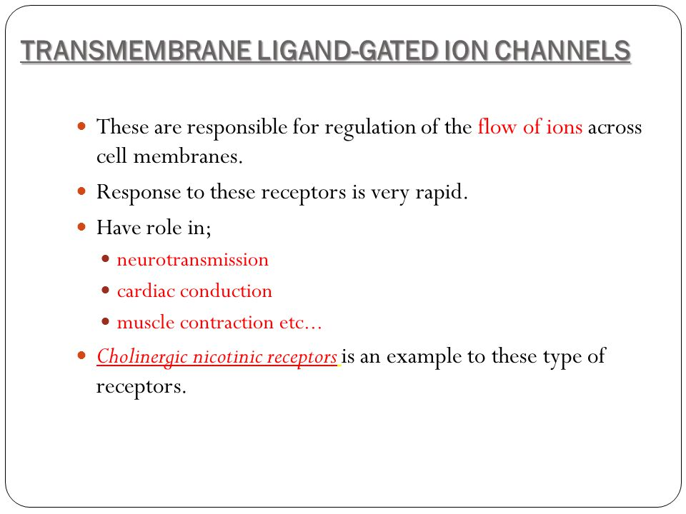 TRANSMEMBRANE LIGAND-GATED ION CHANNELS