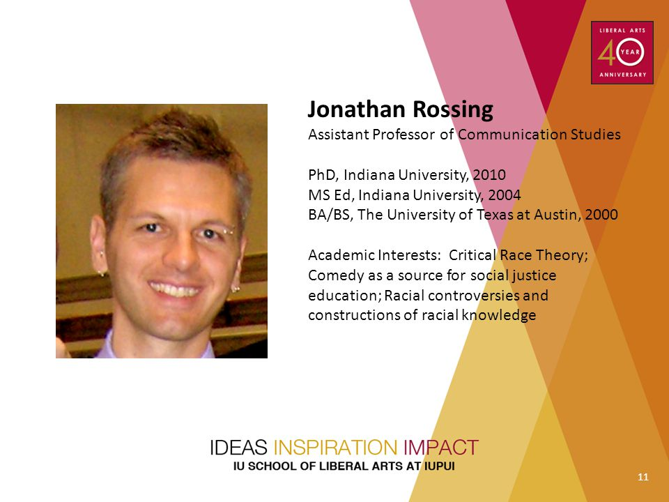 Jonathan Rossing Assistant Professor of Communication Studies