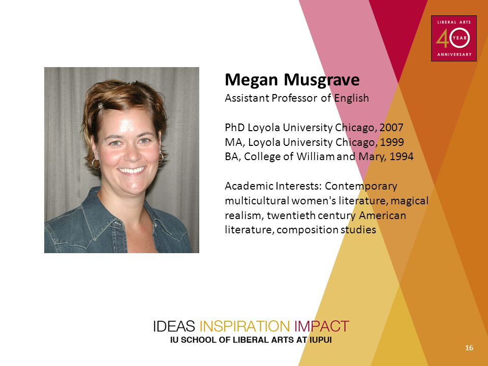 Megan Musgrave Assistant Professor of English