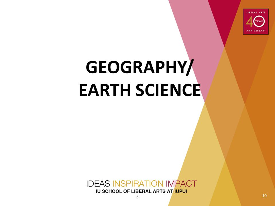 GEOGRAPHY/ EARTH SCIENCE