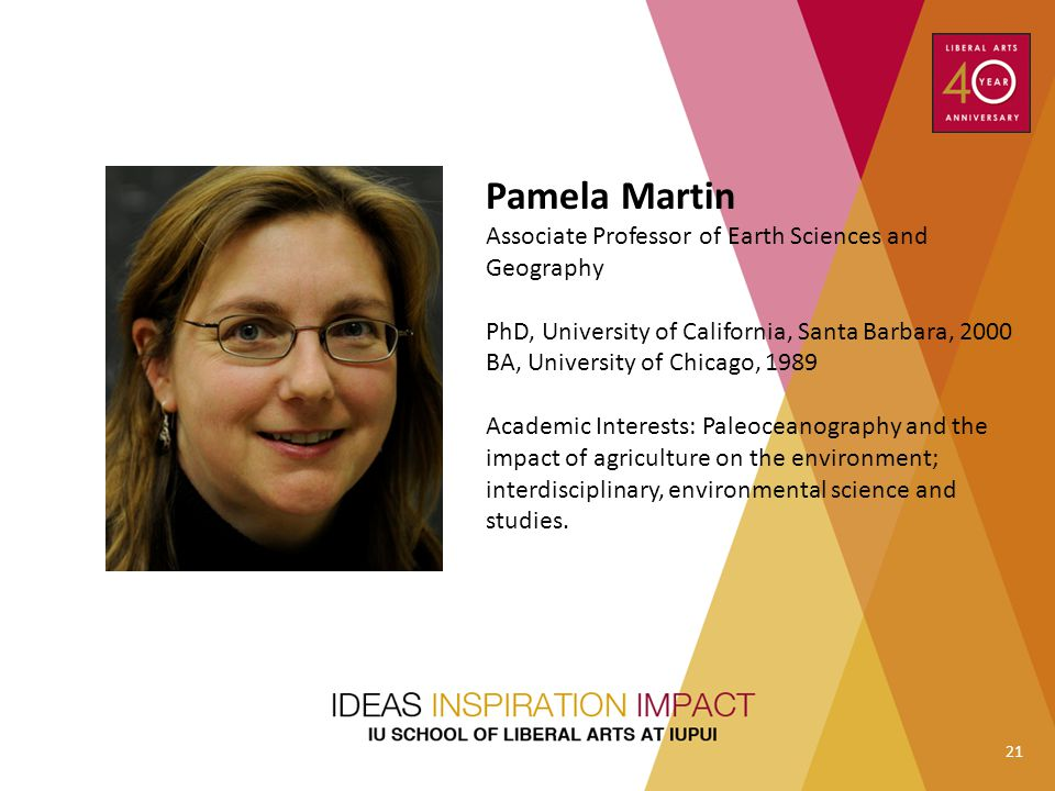 Pamela Martin Associate Professor of Earth Sciences and Geography