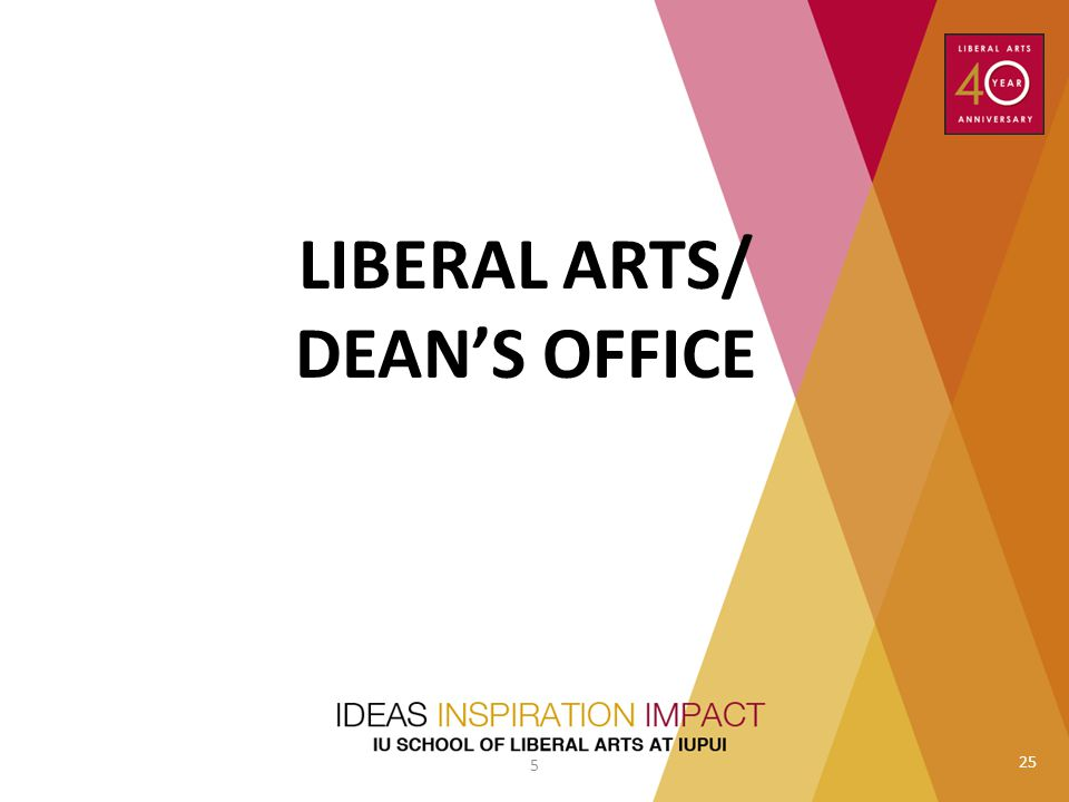 LIBERAL ARTS/ DEAN'S OFFICE