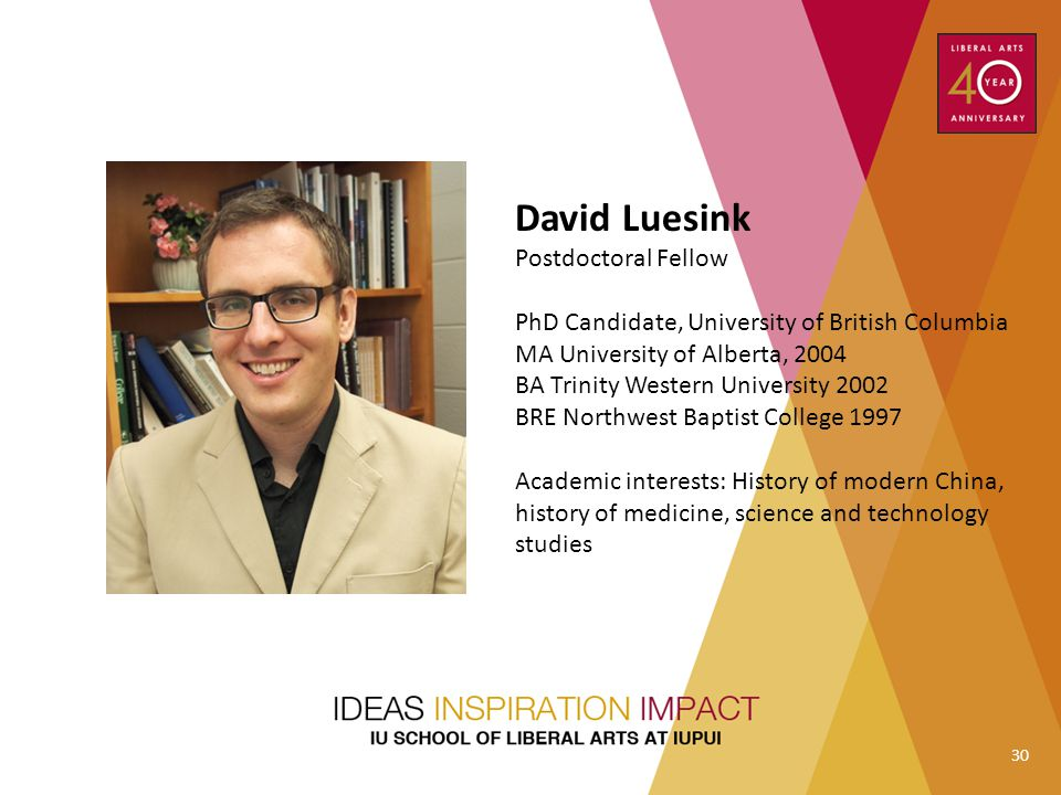 David Luesink Postdoctoral Fellow