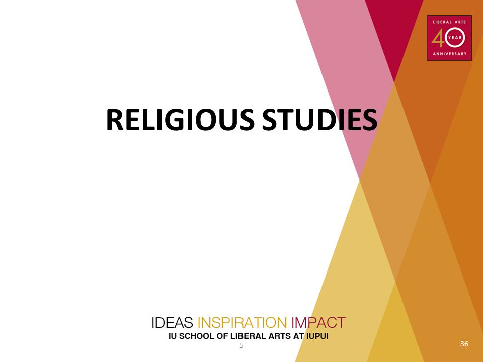 RELIGIOUS STUDIES Peter Thuesen to do introduction 5 36
