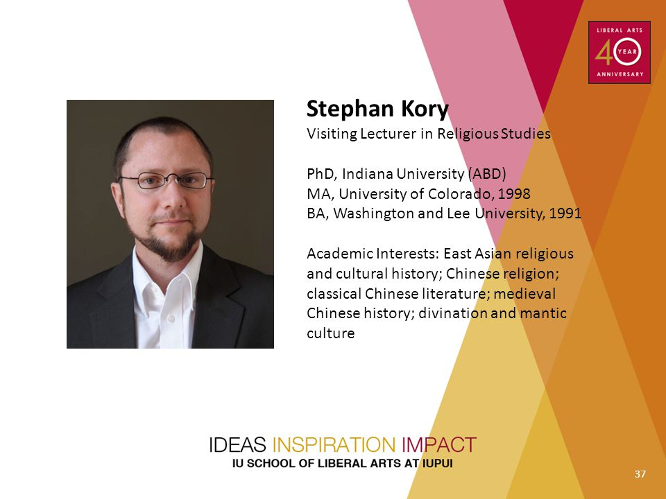 Stephan Kory Visiting Lecturer in Religious Studies
