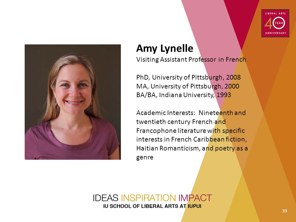 Amy Lynelle Visiting Assistant Professor in French