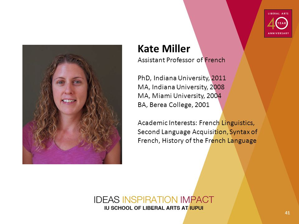 Kate Miller Assistant Professor of French